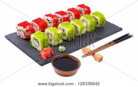 Sushi on a white background t tr