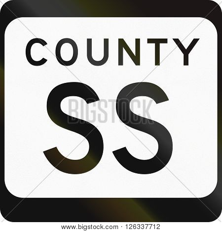 Wisconsin County-designated Highway Shield Used In The Us