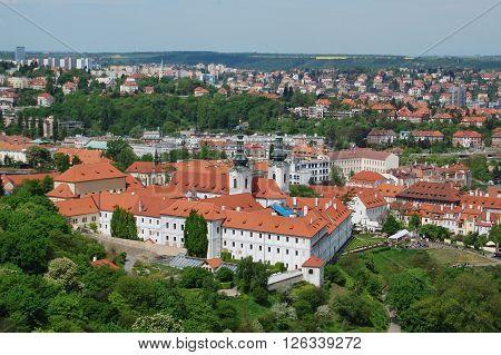 Prague in spring. Strahov Monastery. Site of pilgrimage