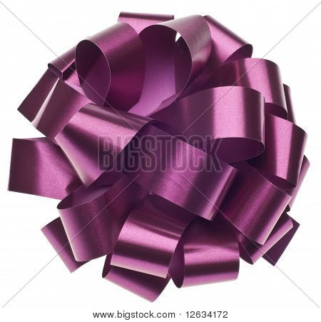 Large Metallic Purple Gift Bow