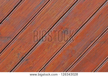 Natural wooden planks. Diagonal. Palisade background, fence