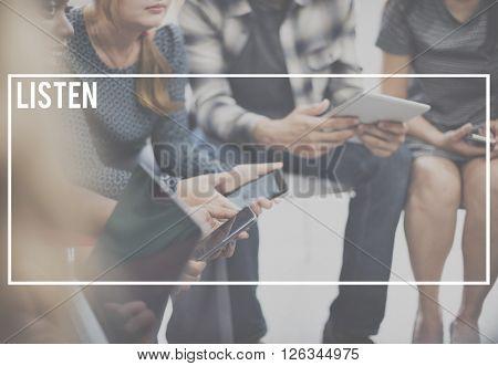 Listen Understand Interest Information Concept