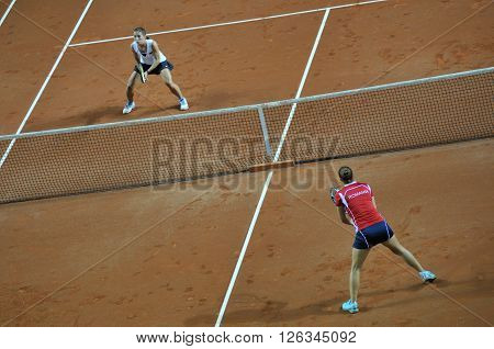Double Woman Tennis Match