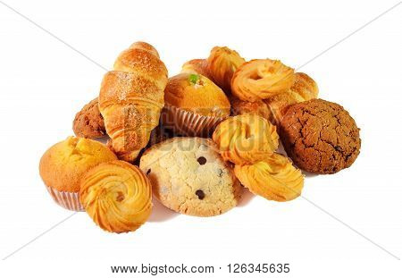 Assortment of pastries and cookies. Selective focus