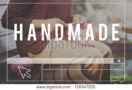Handmade Handicraft Arts Hobby Creative Workmanship Knitting Concept