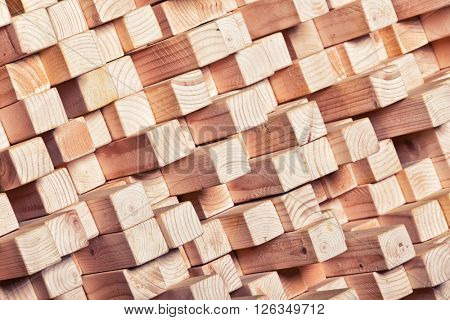 background of geometric natural wood
