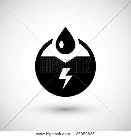 Generation of electricity icon isolated on grey. Vector illustration