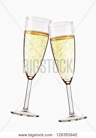 Two Glasses Of Sparkling Champagne