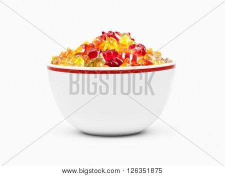 Gummy Bears Candies In A Bowl