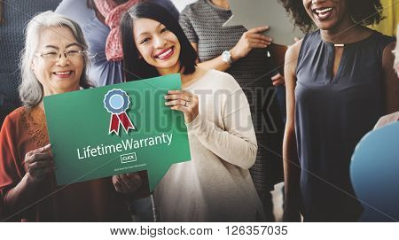 Lifetime Warranty Guarantee Assurance Quality Service Concept
