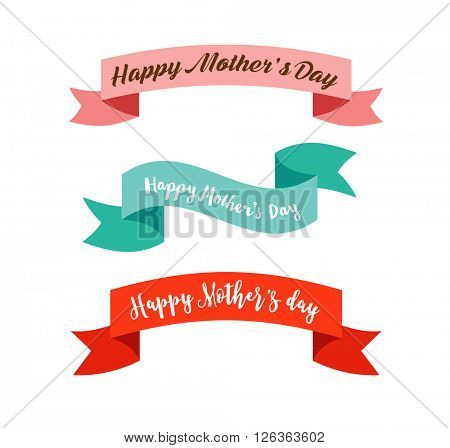 Happy Mother's Day ribbons, banners
