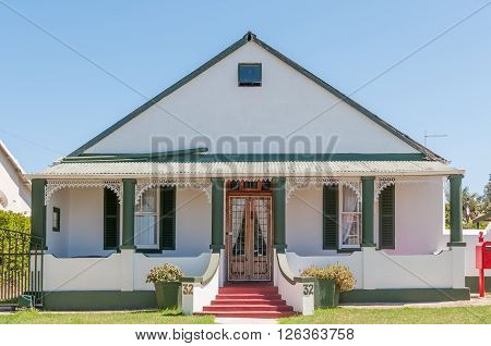 HUMANSDORP SOUTH AFRICA - FEBRUARY 28 2016: Historic house in Humansdorp in the Eastern Cape Province