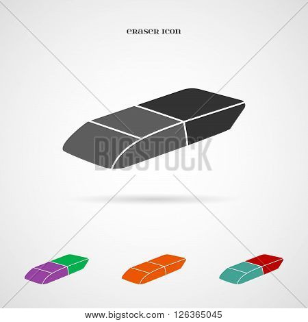 Vector Eraser Icon. Element for your geometry, architecture, student, education and other your projects, web and application icon over white.