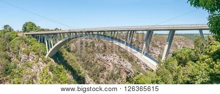 The Paul Sauer Bridge over the Storms River in the Eastern Cape Province was completed in 1956
