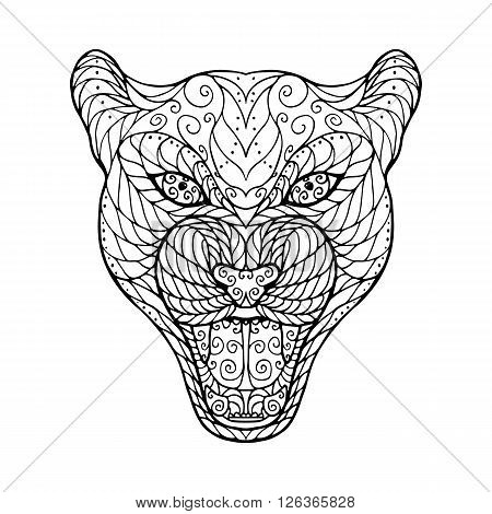 Zen Tangle Head Of Jaguar