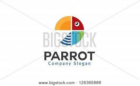 Parrot Creative And Symbolic Logo Design Illustration
