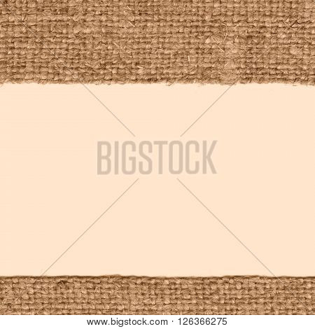 Textile thread fabric interior fawn canvas rope material bagging background