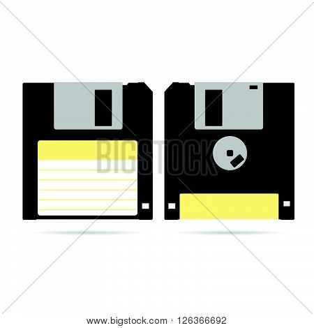 floppy disk art technology illustration in colorful