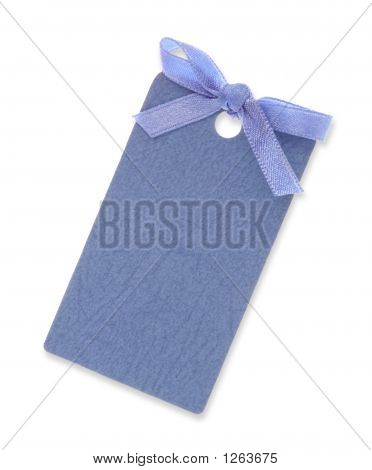 Gift Tag Tied With Ribbon(Clipping Path Included)