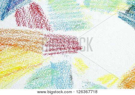 Grunge texture of pastel strokes. Crayons abstract grunge background. Frame design element. Blank for business cards with hand drawing textures. Pencil design elements.