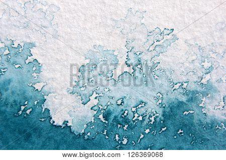Super Macro Blue Watercolor Textures 9