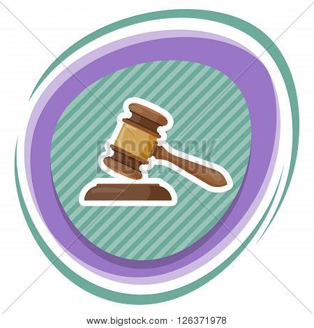 Gavel vector illustration. Gavel judge in a flat style