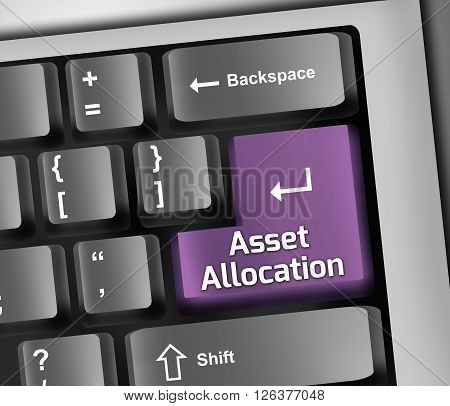 Image Photo Keyboard Illustration with Asset Allocation wording