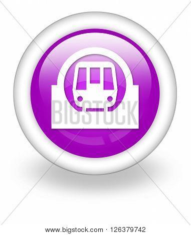 Image Photo Icon Button Pictogram with Subway symbol