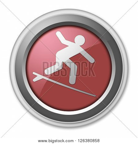 Image Photo Icon Button Pictogram with Surfing symbol