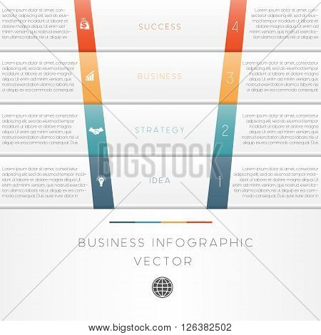 Vector illustration template of business infographic numbered four position