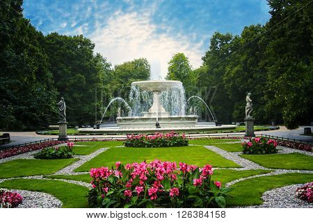 The Saxon Garden in Warsaw Poland .