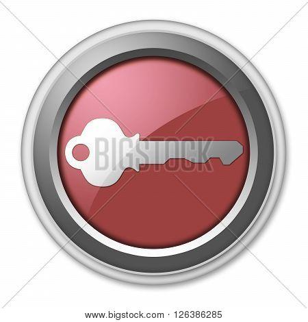 Image Photo Icon Button Pictogram with Key symbol