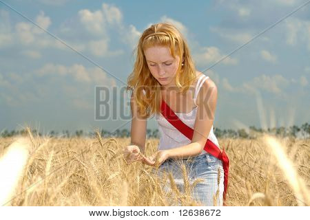 A Girl Working In The Field