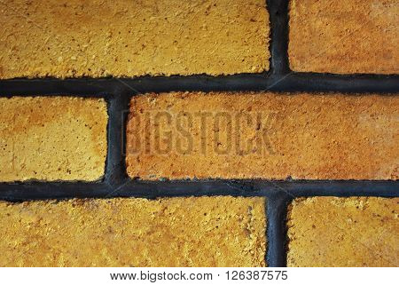Decorative orange brick seamles wall texutre pattern
