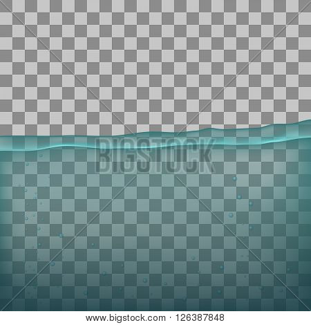 Water, sea, ocean with transparency on transparent background.