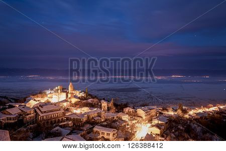 View of Sighnaghi. Another name of town  is