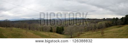 Smokey mountains panoramic scenery from North Carolina USA