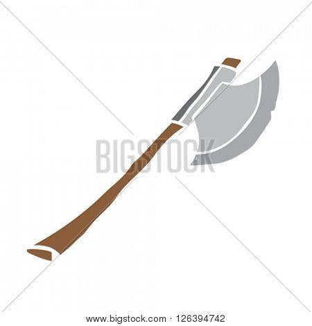 axe cartoon illustration isolated on white