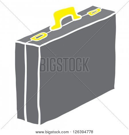 cartoon illustration of briefcase