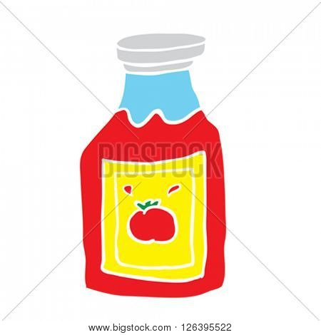 simple freehand drawn cartoon ketchup