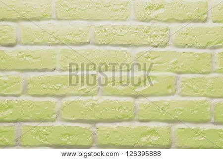 Yellow brick wall texture or background, abstract