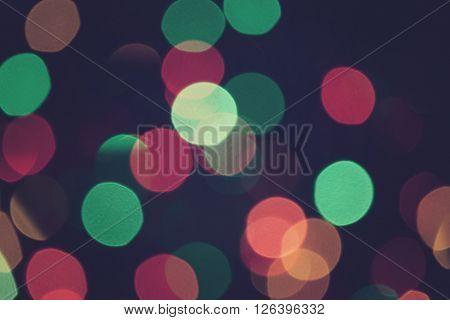 Bokeh Lights Retro Background Purple Night 5