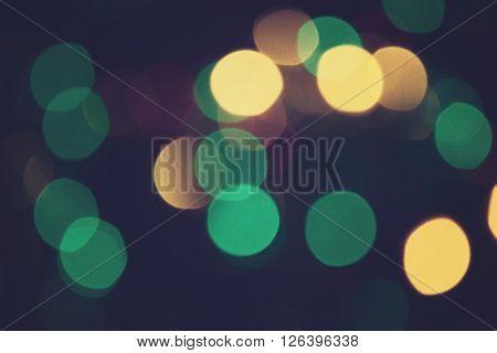 Bokeh Lights Retro Background Purple Night 6