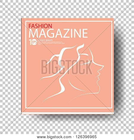 cartoon clip-art concept fashion magazine. eps10 vector