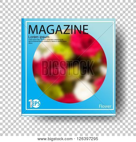 cartoon clip-art concept flower magazine. eps10 vector