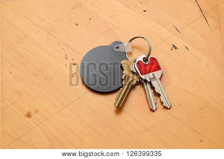 Keyring With Blank Fob On Table