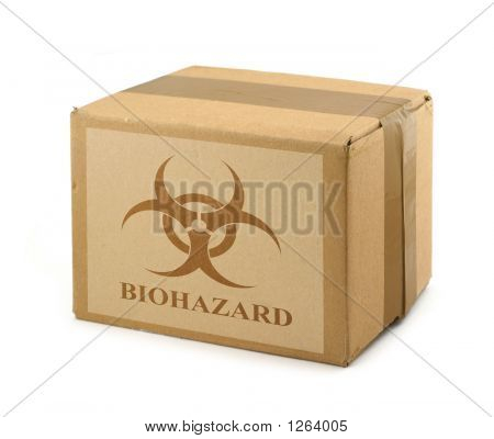 Cardboard Box With Biohazard Symbol #2