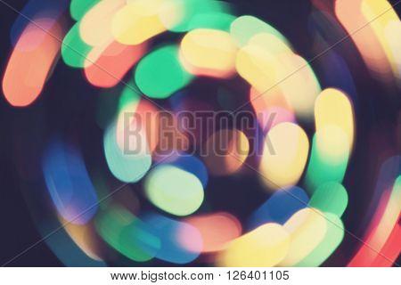 Bokeh Lights Whirl Retro Background Purple Night 1