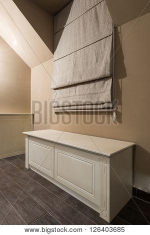 Modern dresser furniture, dresser in attic apartment