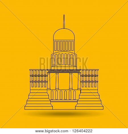 capitol building design, vector illustration eps10 graphic